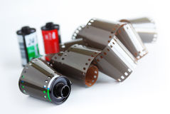 Film and Canisters Stock Images