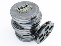 Film cans. 3d image on white background Royalty Free Stock Images