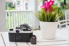 Film cartridge camera Stock Photo