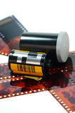 Film cartridge for film camera. Royalty Free Stock Photography