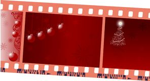 Film and christmas frames. Illustration with film and christmas frames Royalty Free Stock Images