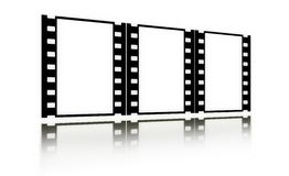 Film(chrome,soft)frames(in perspective,vertical) Royalty Free Stock Photography