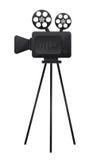 Film cinema camera. Black film cinema camera over white background. vector Royalty Free Stock Photo
