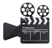 Film cinema camera conceptual. Over white background. vector Royalty Free Stock Photos