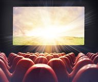 Film at the cinema Stock Photography