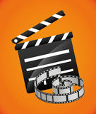 Film and cinema icons Royalty Free Stock Photo
