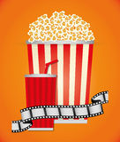 Film and cinema icons Royalty Free Stock Image