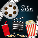 Film and cinema icons. Graphic design, vector illustration eps10 Royalty Free Stock Photos
