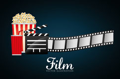 Film and cinema icons Stock Image