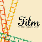 Film and cinema icons. Graphic design, vector illustration eps10 Stock Photos