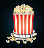 Film and cinema icons. Graphic design, vector illustration eps10 Royalty Free Stock Images