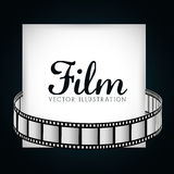 Film and cinema icons. Graphic design, vector illustration eps10 Royalty Free Stock Image
