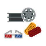 Film cinema technology vector illustration. Stock Photo