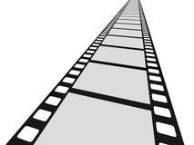 Film. Cinema film on a white background. 3d image Stock Photos