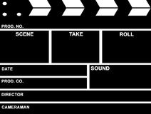 Film Clap board. Isolated in white Royalty Free Stock Image