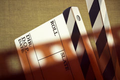 Film and clapboard Royalty Free Stock Photos