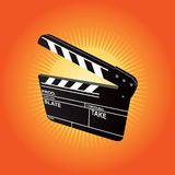 Film Clapboard. (editable vector + jpeg Royalty Free Stock Photo