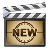 Film Clapboard. New. Illustration of Film Clapboard. New Stock Photos