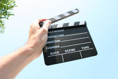 Film clapp. Of hollywood production stock photography