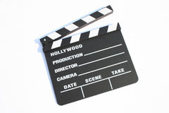 Film clapp. Of hollywood production royalty free stock photos
