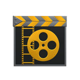 Film clapper. A clapper on white background Royalty Free Stock Photo
