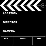 Film clapper. Flim clapper board with space to put your own text Royalty Free Stock Image