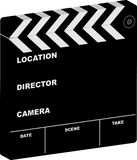 Film clapper 3d. Illustration of a film clapper with room to add your own cinema information Stock Photography
