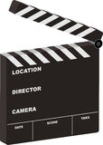 Film clapper 3d open. Film clapper board open with room for your own text Stock Images