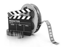 Film and Clapper board Stock Photography