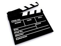 A film clapper board. 3D Image of a film clapper board royalty free illustration