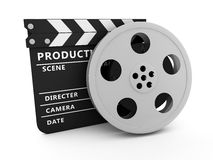 Film and Clapper board. Illustration of film and Clapper board Royalty Free Stock Images