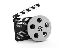 Film and Clapper board. Illustration of film and Clapper board Stock Photo