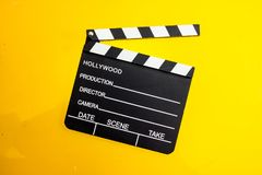 Clapperboard isolated close up royalty free stock photography
