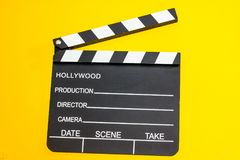 Movie clapperboard close up royalty free stock photo