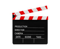 Film clapperboard with clipping path Stock Image