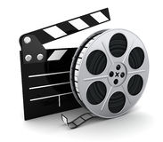 Film and clipboard symbol Royalty Free Stock Image