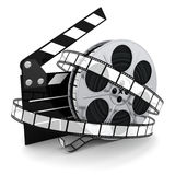 Spool and film Royalty Free Stock Photography