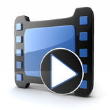 Film and clipboard symbol. (done in 3d Royalty Free Stock Images