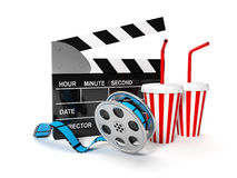 A film with the coil shooting Stock Photography