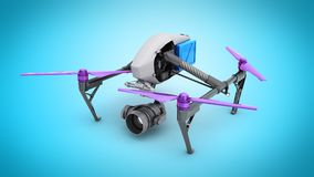 Film concept Generic Design Remote Control Air Drone Flying 3D r Stock Photos