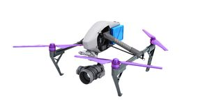 Film concept Generic Design Remote Control Air Drone Flying 3D r Stock Photography