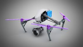Film concept Generic Design Remote Control Air Drone Flying 3D r Royalty Free Stock Photography
