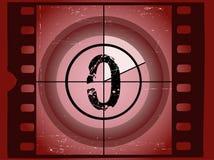 Film-Count-down - bei 0 lizenzfreie abbildung