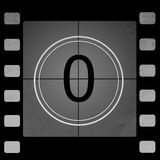 Film countdown 0 Royalty Free Stock Image