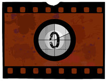 Film Countdown - At 0. Old Fashioned Film Countdown No 0 Stock Image
