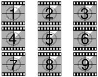 Film countdown 02. Film countdown just like in the movies Stock Image