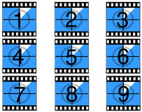 Film countdown 05. Film countdown just like in the movies Royalty Free Stock Image