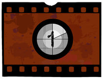 Film Countdown - At 1. Old Fashioned Film Countdown No 1 Stock Photography