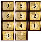 Film countdown. In yellow color beauty style Royalty Free Stock Images
