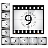 Film countdown. Please check my portfolio for more photography illustrations Royalty Free Stock Photography